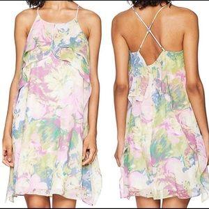 BCBGMaxAzria  Floral Print Mini Dress size MED